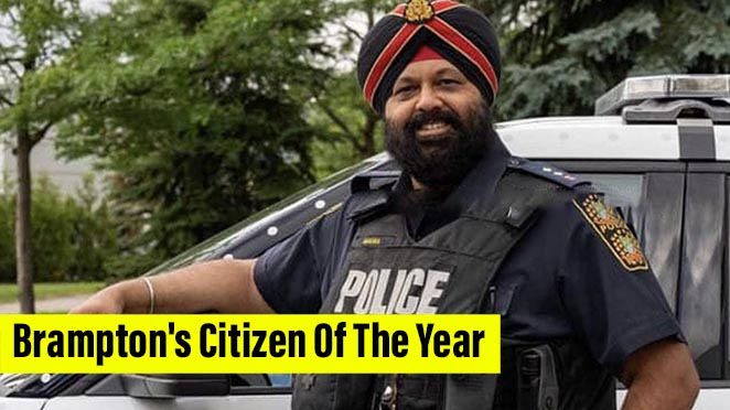 First Ever Turbaned Peel Officer Awarded With Brampton's Citizen Of The Year Prestigious Award