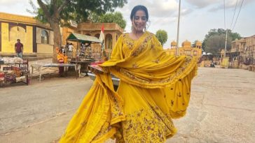 Sara Gurpal Flaunts Her Dazzling Smile In The Mustard Yellow Suit Outfit