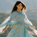 Manpreet Toor Sets Internet Ablaze With Her Stunning Picture In Blue Embroidered Lehenga