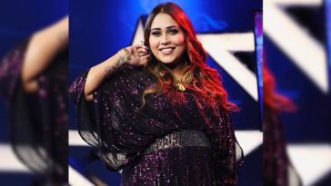 Afsana Khan Flaunts Her Sizzling Avatar In Gorgeous Multi Colored Shimmery Dress, Pictures Inside