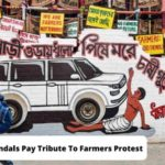 Durga Puja Pandals In Kolkata Pay Tribute To Farmers And Lakhimpur Kheri Incident With Farmers Protest Theme