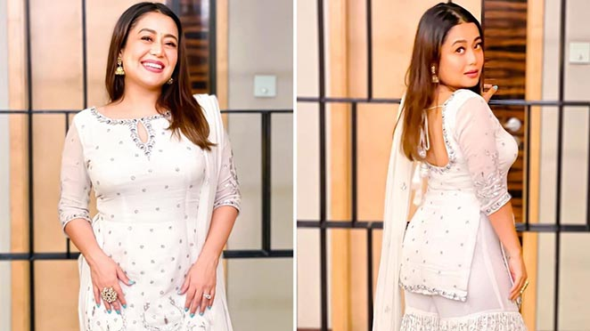 Neha Kakkar Looks Magical In All White Gharara Suit, Slays The Festive Season With This Perfect Outfit