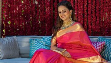 Sargun Mehta Makes The Heart Race In Royal Silk Saree, Fans Left Drooling Over Her